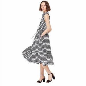 NWOT Kate Spade Candy Striped Shirt Midi Dress